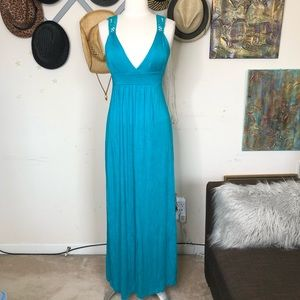 Forever 21 Teal maxi summer dress